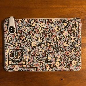 Coach X Keith Haring canvas clutch